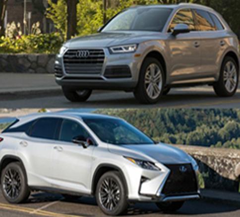 آئودی Q5 مدل ۲۰۱۸ و لکسوس RX مدل ۲۰۱۸ با طراحی زیبا -