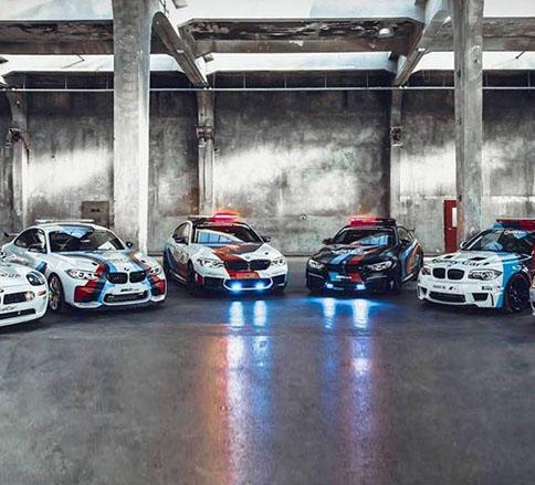 ب ام و خودروهایی ایمن در مسابقات موتو جی پی -